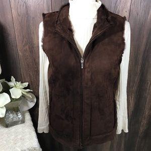 Vintage Pendleton 100% leather vest